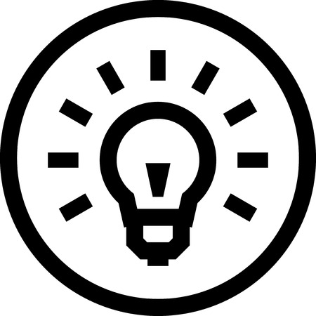 Light bulb - Vector icon isolated Imagens - 52953881