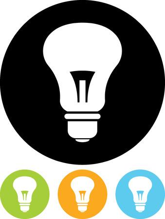 Lightbulb - Vector icon Illustration