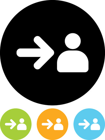 Register new user - Vector icon isolated