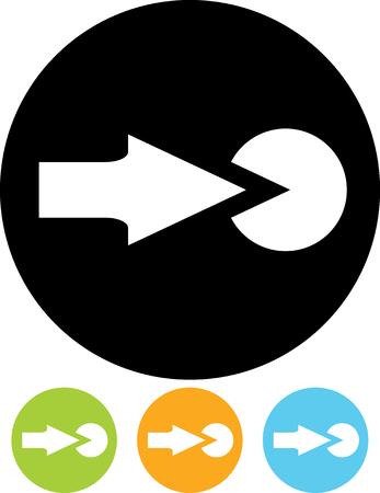 Push the button  Vector icon