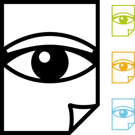 Lesen Sie das Dokument - Vector-Symbol Standard-Bild - 52953960