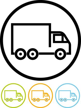 Levering Truck - Vector pictogram geïsoleerd Stockfoto - 52953959