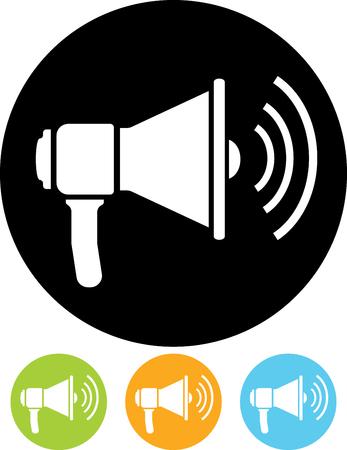 Vector icon - Loudspeaker Illusztráció