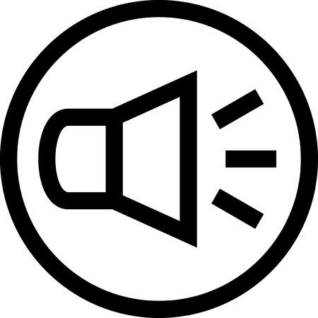 Sound speaker - Vector icon isolated