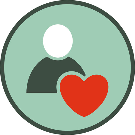 Human heart vector icon