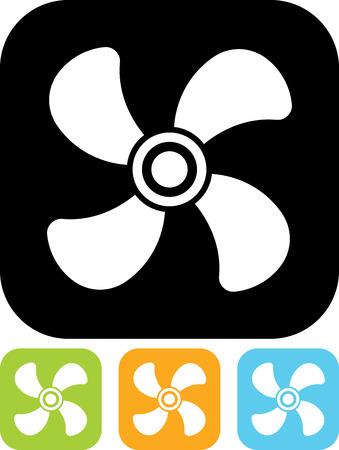 Ventilator airconditioner vector icon