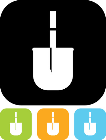 Shovel - Vector icon isolated