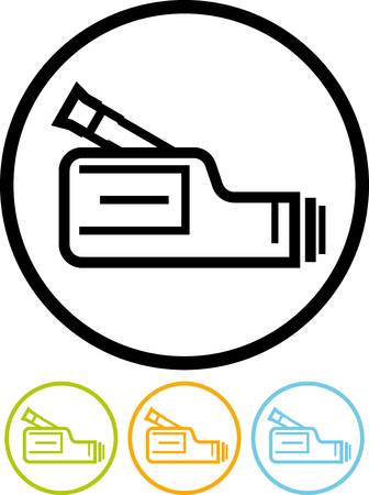 Vector icon isolated on white - Video camera Illustration
