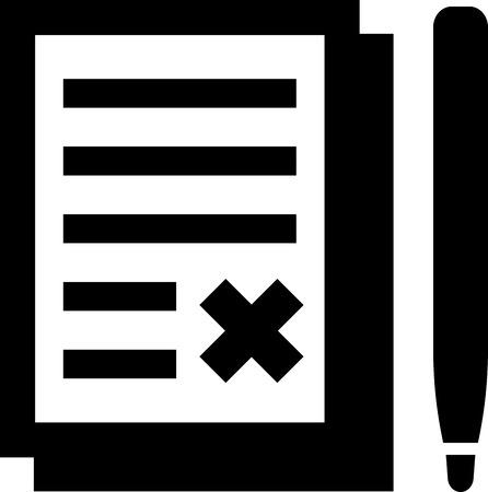 Teken hier. geïsoleerd Vector pictogram - Document