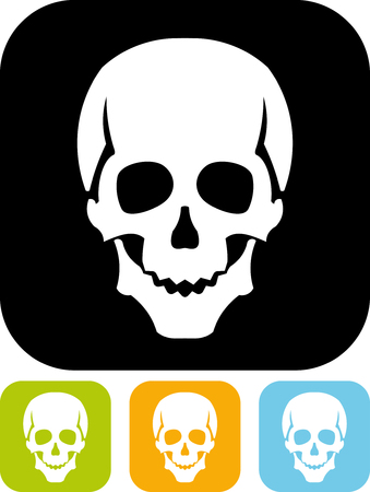 Skull - Simple vector icon isolated on white