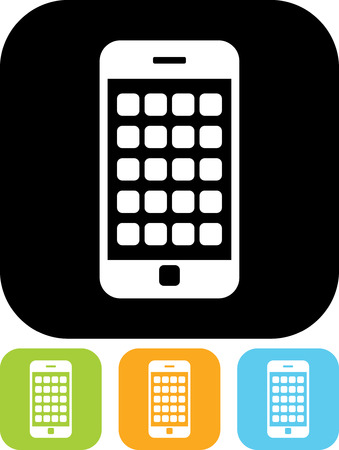 Modern smartphone mobile device - Vector icon isolated