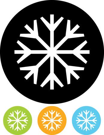 スノーフレーク - 分離したベクトル図  イラスト・ベクター素材