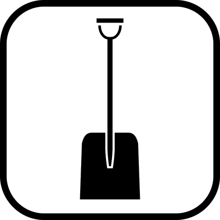 Snow shovel vector icon