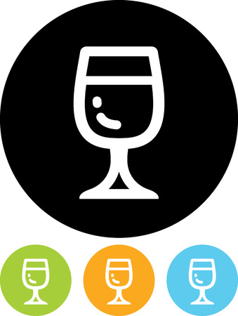 Glass of wine - Vector icon isolated
