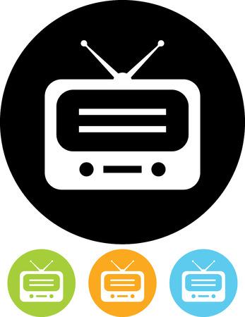 Radio - Vector pictogram op wit wordt geïsoleerd