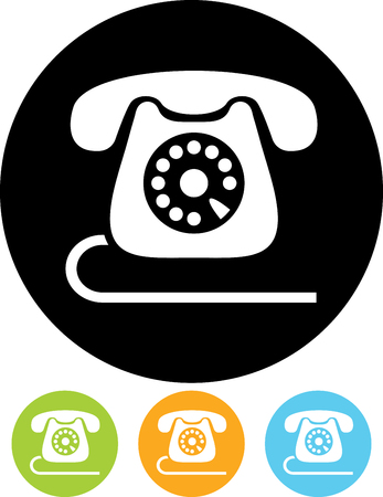 Retro phone vector icon