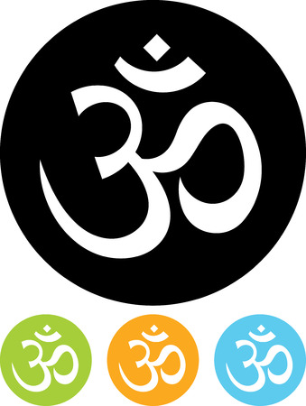 Om sign - Vector icon isolated