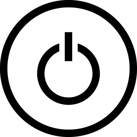 Switched on symbol - Vector icon isolated