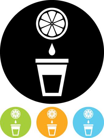 Orange juice - Vector icon isolated