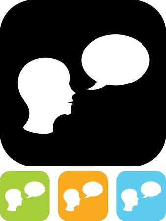 Man speaking vector icon