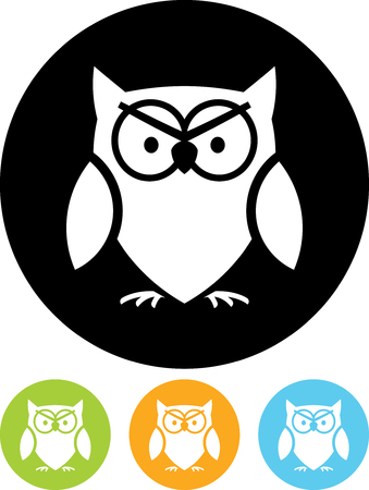 Owl - Vector icon isolated