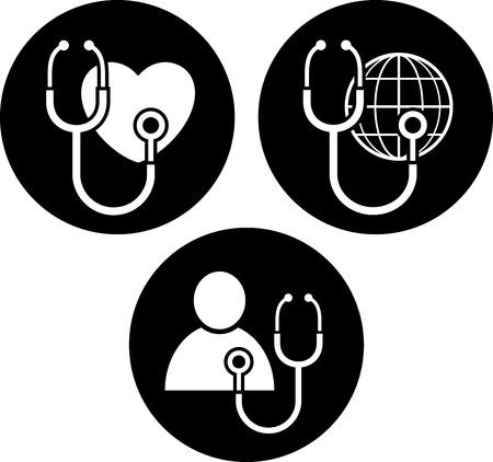 Healthcare symbols vector icons