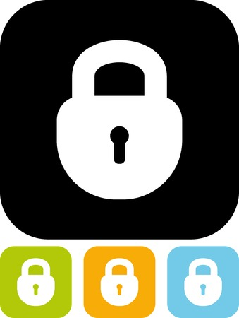 Padlock - Vector icon isolated