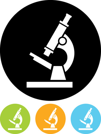 Vector icon isolated - Biochemistry and microbiology equipment. Microscope.
