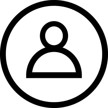 男文字の分離ベクトル アイコン