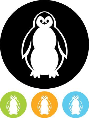 Baby Penguin - Vector icon isolated Illusztráció