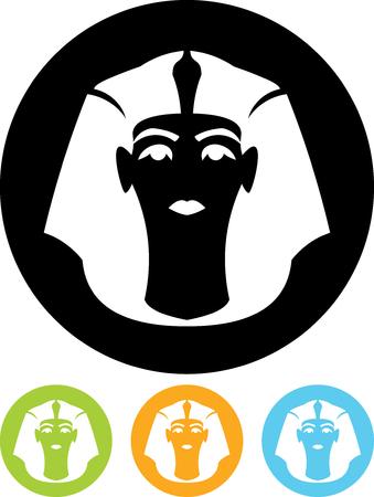 Pharaoh head - Vector icon isolated
