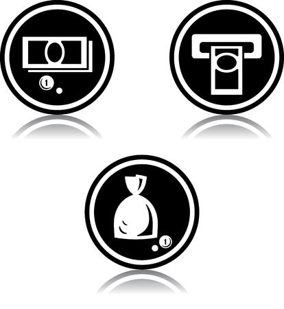Cash money cashpoint - Vector icons