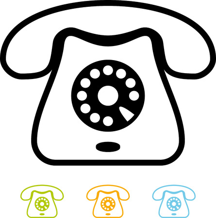 Telephone - Vector icon isolated