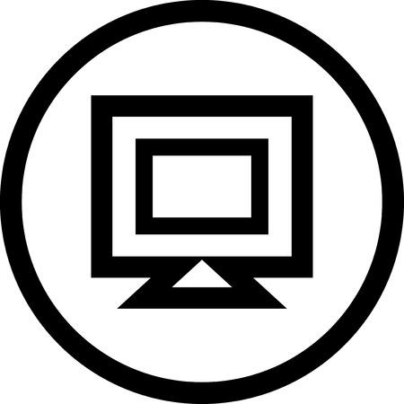 Desktop pc-monitor - vector pictogram geïsoleerd