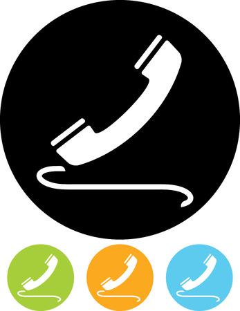 Phone receiver vector icon Illustration