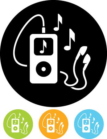 mp3 음악 파일 플레이어 벡터 아이콘 일러스트