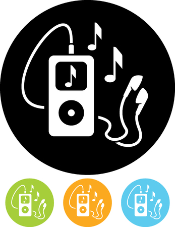 mp3 music files player vector icon