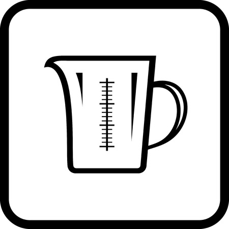 Measuring glass - Vector icon isolated on white Иллюстрация