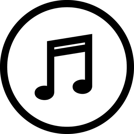 Musical note - Vector icon isolated
