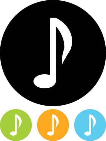 Vektorikone getrennt - Musiknote Standard-Bild - 52954765