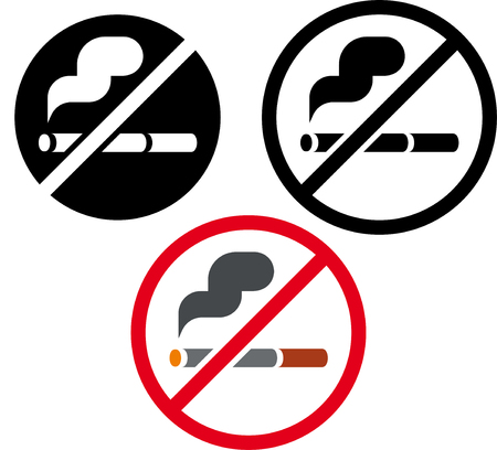 No hay signos de fumar vector Foto de archivo - 52954866