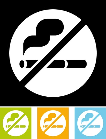 No smoking sign - Vector illustration Imagens - 52954867