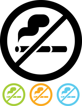 No smoking sign vector Stock Illustratie