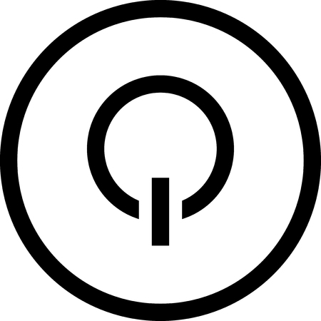 Switch off symbol - Vector icon isolated