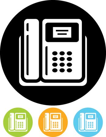 Vector landline phone icon Çizim