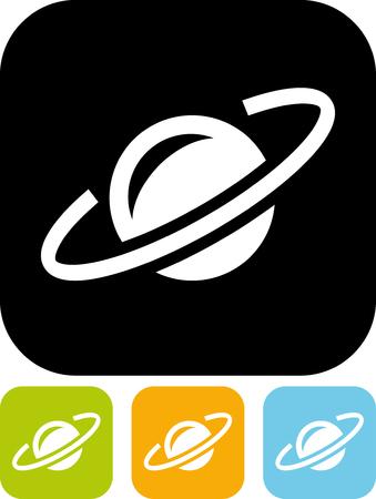 宇宙の惑星軌道 - 分離ベクトル アイコン