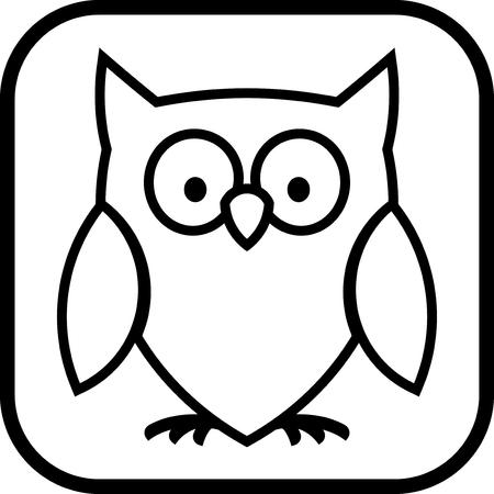 フクロウ - 分離ベクトル アイコン  イラスト・ベクター素材