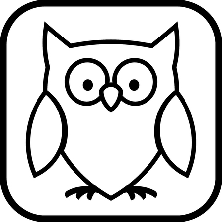 Owl - Vector pictogram geïsoleerde