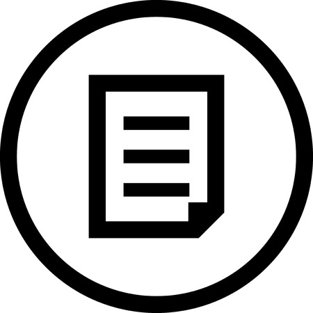 Paper document with text - Vector icon isolated