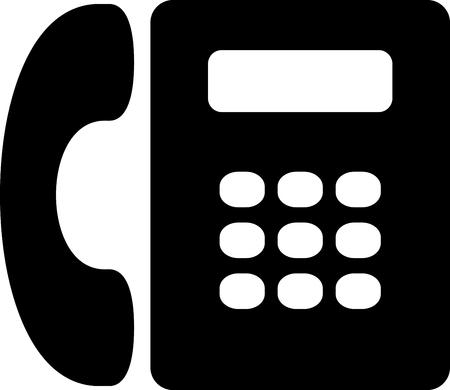 Vector landline telephone icon isolated. Contact us